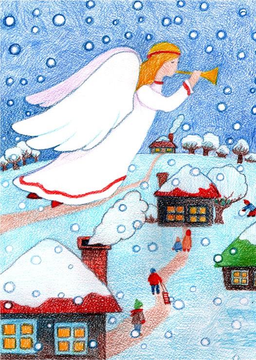 Рисунки и картинки к рождеству
